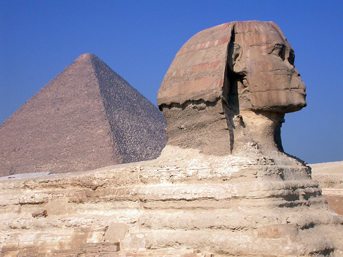 Egypt: Pyramid and Sphinx