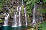 Reunion Island: Grand Galet Waterfall in the Langevin River Valley