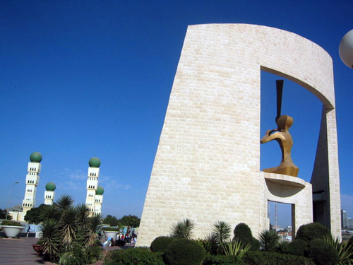 Senegal: Dakar Monument and Mosque